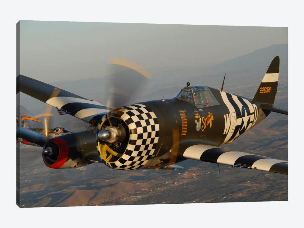 P-47 Thunderbolts Flying Over Chino, California I by Phil Wallick 1-piece Canvas Art Print