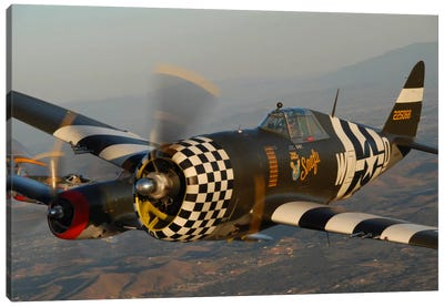 P-47 Thunderbolts Flying Over Chino, California I Canvas Art Print
