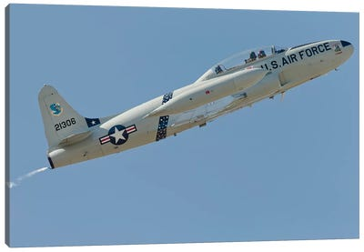 T-33 Shooting Star Flying Over Watsonville, California Canvas Art Print