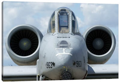 Front View Of An A-10A Thunderbolt II Canvas Art Print