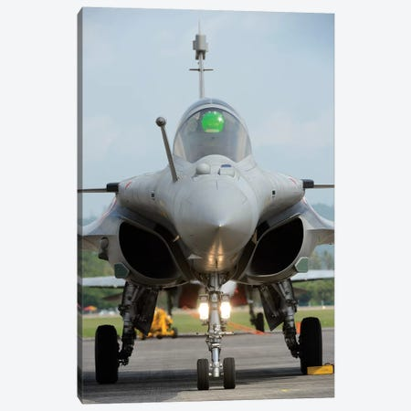 A Dassault Rafale Fighter Aircraft Of The French Air Force Canvas Print #TRK421} by Remo Guidi Canvas Art Print