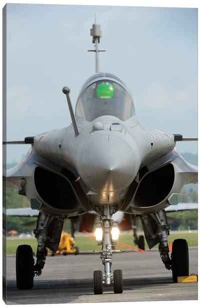 A Dassault Rafale Fighter Aircraft Of The French Air Force Canvas Art Print