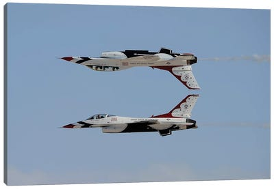 The US Air Force Thunderbirds In Calypso Pass Formation Canvas Art Print
