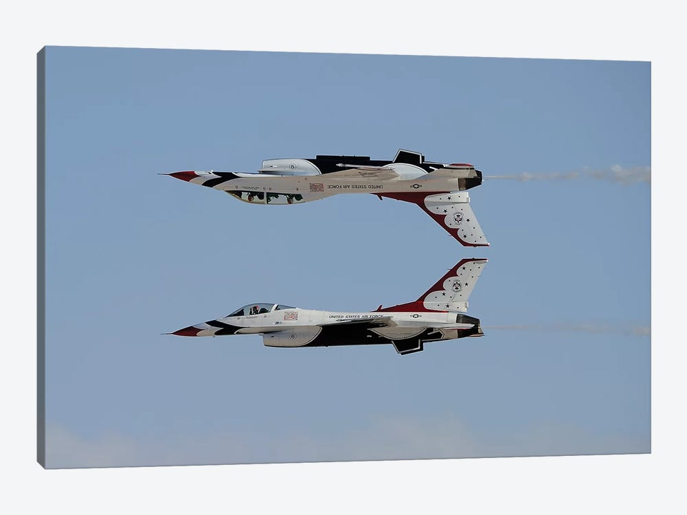 The US Air Force Thunderbirds In Calypso Pass Formation by Remo Guidi 1-piece Canvas Wall Art