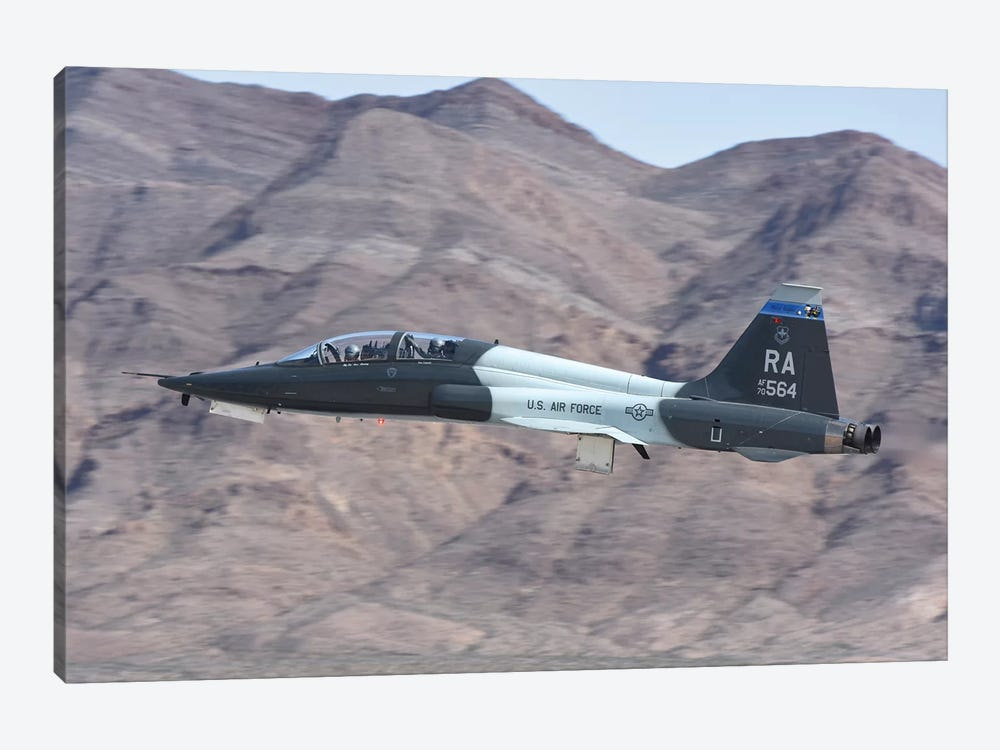 A US Air Force T-38C Taking Off From Nellis Air Force Base, Nevada by Riccardo Niccoli 1-piece Canvas Wall Art