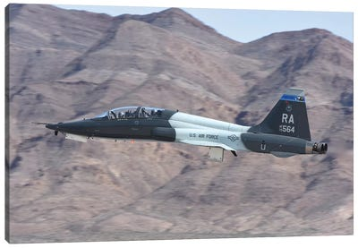 A US Air Force T-38C Taking Off From Nellis Air Force Base, Nevada Canvas Art Print