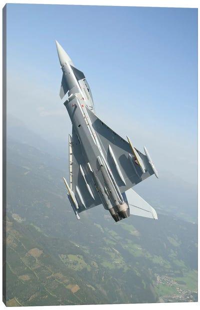 An Austrian Air Force EF2000 Typhoon Over The Austrian Alps Canvas Art Print