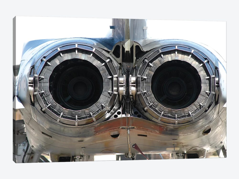 Italian Air Force Tornado Aircraft Engines Exhaust Close-Up by Riccardo Niccoli 1-piece Art Print
