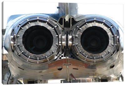 Italian Air Force Tornado Aircraft Engines Exhaust Close-Up Canvas Art Print