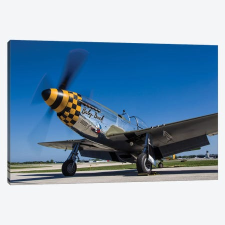 A P-51 Mustang At Waukegan, Illinois Canvas Print #TRK433} by Rob Edgcumbe Canvas Art