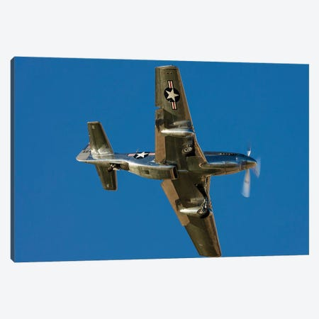 A P-51 Mustang Flies By At Nellis Air Force Base, Nevada Canvas Print #TRK435} by Rob Edgcumbe Canvas Art Print