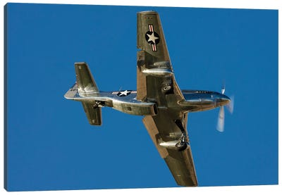 A P-51 Mustang Flies By At Nellis Air Force Base, Nevada Canvas Art Print