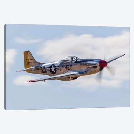 A P-51 Mustang Flies By At Vacaville, California Canvas Print #TRK436} by Rob Edgcumbe Canvas Print