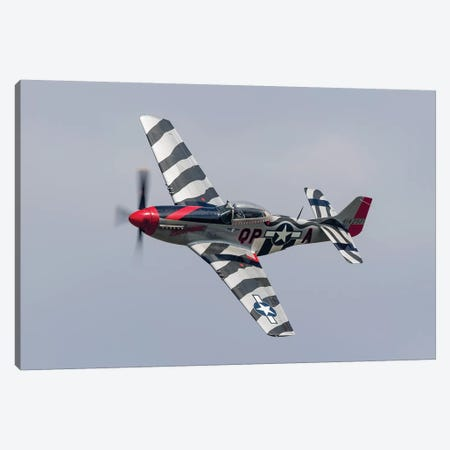 A P-51 Mustang Flies By At Willow Run, Michigan Canvas Print #TRK437} by Rob Edgcumbe Canvas Art Print