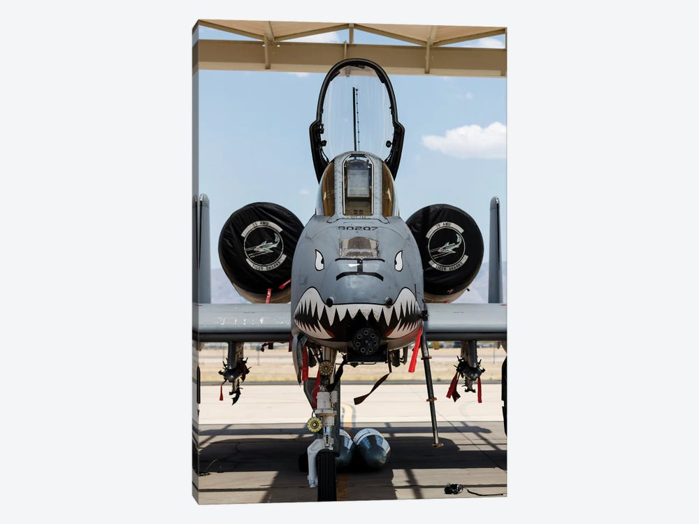 A US Air Force A-10 Thunderbolt II Parked At Davis Monthan Air Force Base by Rob Edgcumbe 1-piece Canvas Wall Art