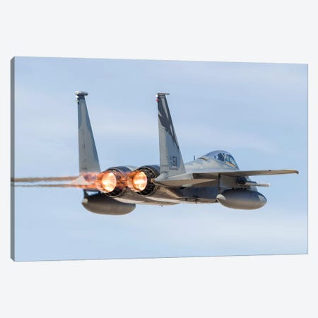 A US Air Force F-15C Eagle Taking Off From Nellis Air Force Base, Nevada I Canvas Print #TRK443} by Rob Edgcumbe Art Print