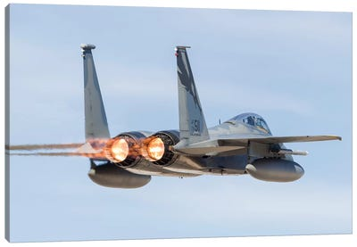 A US Air Force F-15C Eagle Taking Off From Nellis Air Force Base, Nevada I Canvas Art Print