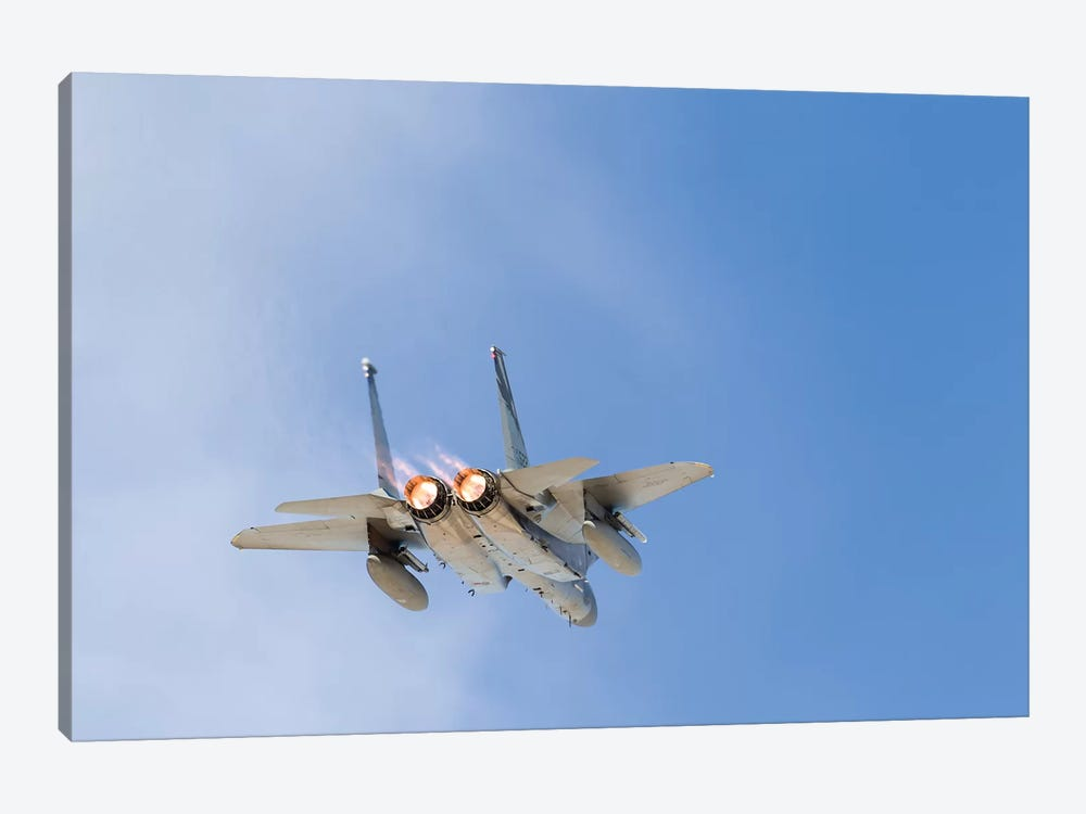 A US Air Force F-15C Eagle Taking Off From Nellis Air Force Base, Nevada II by Rob Edgcumbe 1-piece Canvas Wall Art
