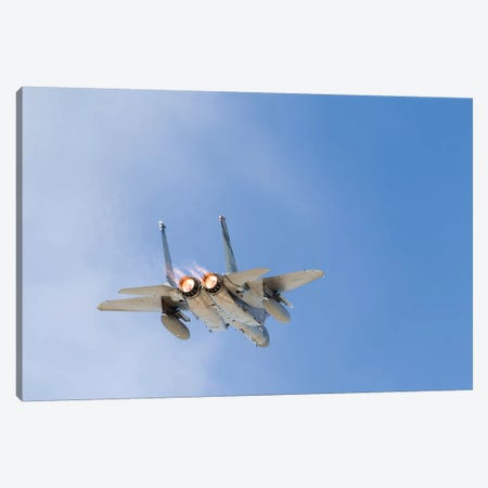 A US Air Force F-15C Eagle Taking Off From Nellis Air Force Base, Nevada II Canvas Print #TRK444} by Rob Edgcumbe Canvas Art