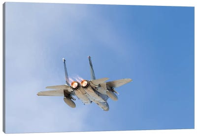 A US Air Force F-15C Eagle Taking Off From Nellis Air Force Base, Nevada II Canvas Art Print
