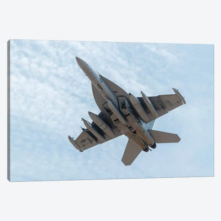 A US Navy E/A-18G Growler Takes Off From Nellis Air Force Base, Nevada Canvas Print #TRK448} by Rob Edgcumbe Canvas Art Print