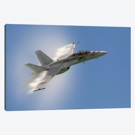 A US Navy F/A-18F Performs A Fast Pass Over Chicago, Illinois Canvas Print #TRK449} by Rob Edgcumbe Canvas Print