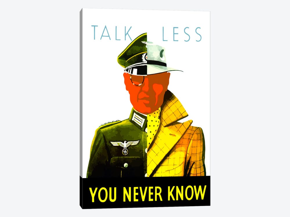 Talk Less, You Never Know Wartime Poster by John Parrot 1-piece Art Print