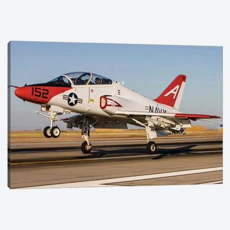 A US Navy T-45 Goshawk Taking Off Canvas Print #TRK451} by Rob Edgcumbe Canvas Art
