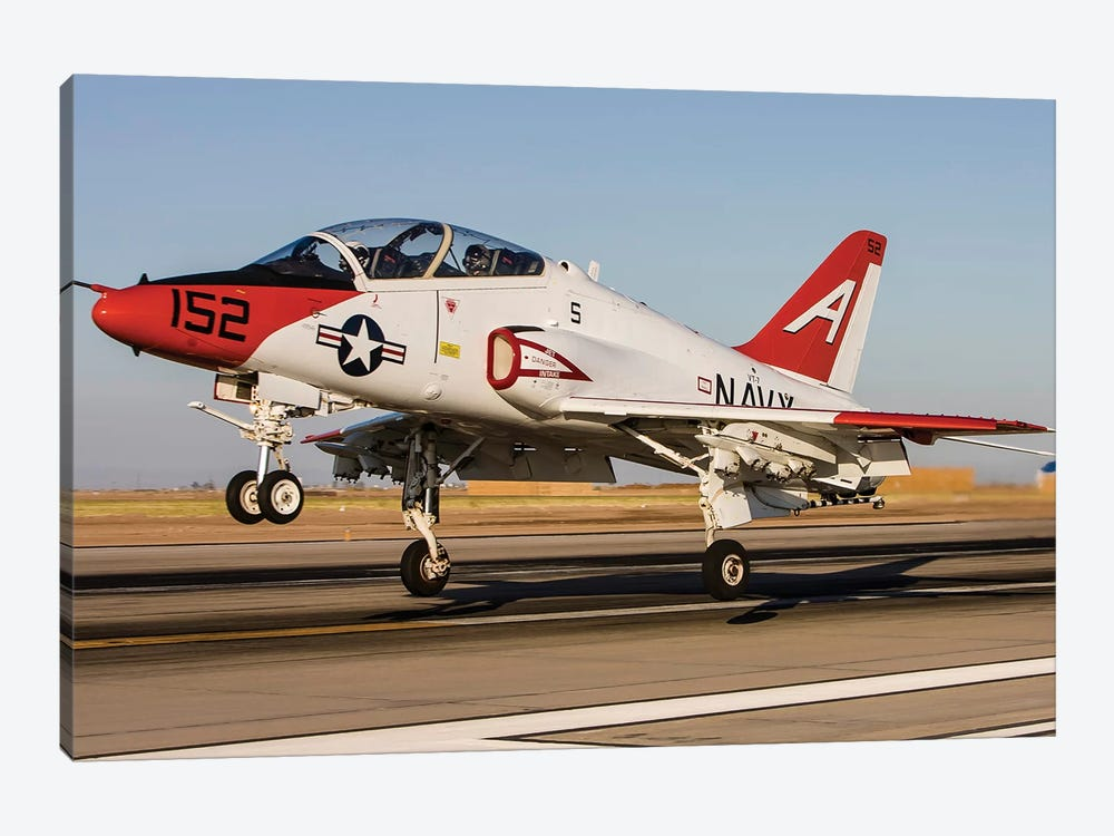 A US Navy T-45 Goshawk Taking Off 1-piece Canvas Art