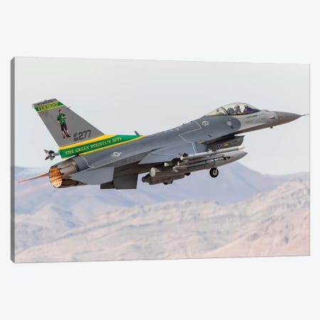 A Vermont Air National Guard F-16C Fighting Falcon Taking Off Canvas Print #TRK452} by Rob Edgcumbe Canvas Wall Art