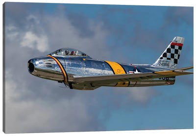 A Vintage F-86 Sabre Of The Warbird Heritage Foundation Canvas Art Print