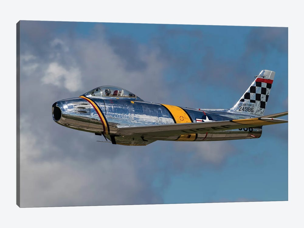 A Vintage F-86 Sabre Of The Warbird Heritage Foundation by Rob Edgcumbe 1-piece Canvas Artwork