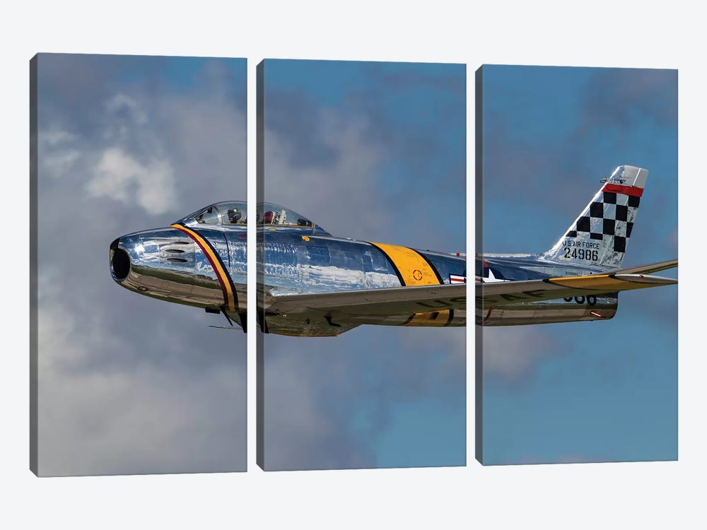 A Vintage F-86 Sabre Of The Warbird Heritage Foundation 3-piece Canvas Art