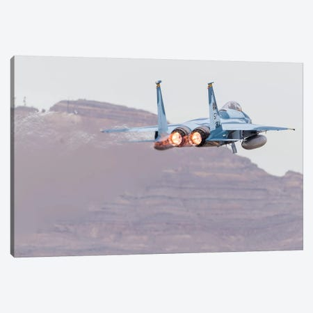An Aggressor F-15C Eagle Of The US Air Force Taking Off Canvas Print #TRK454} by Rob Edgcumbe Canvas Print
