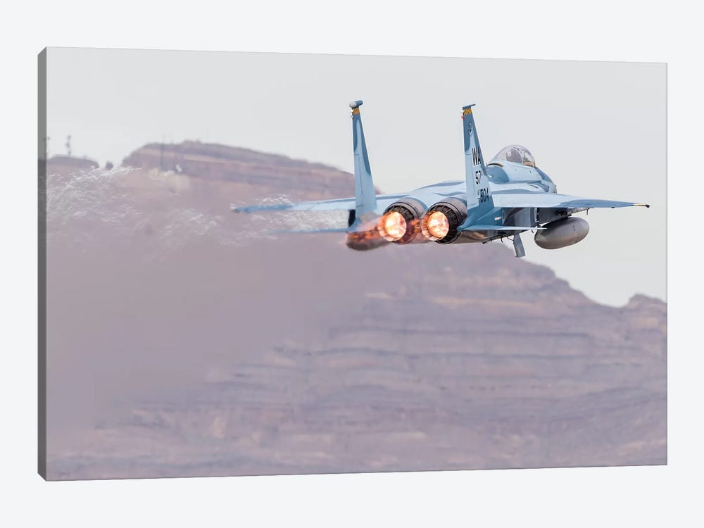 An Aggressor F-15C Eagle Of The US Air Force Taking Off by Rob Edgcumbe 1-piece Canvas Print