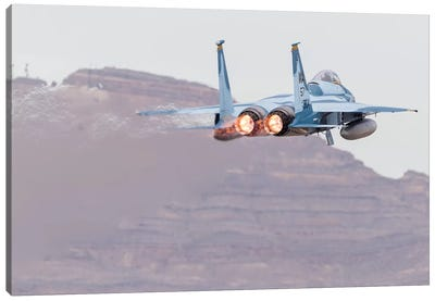 An Aggressor F-15C Eagle Of The US Air Force Taking Off Canvas Art Print