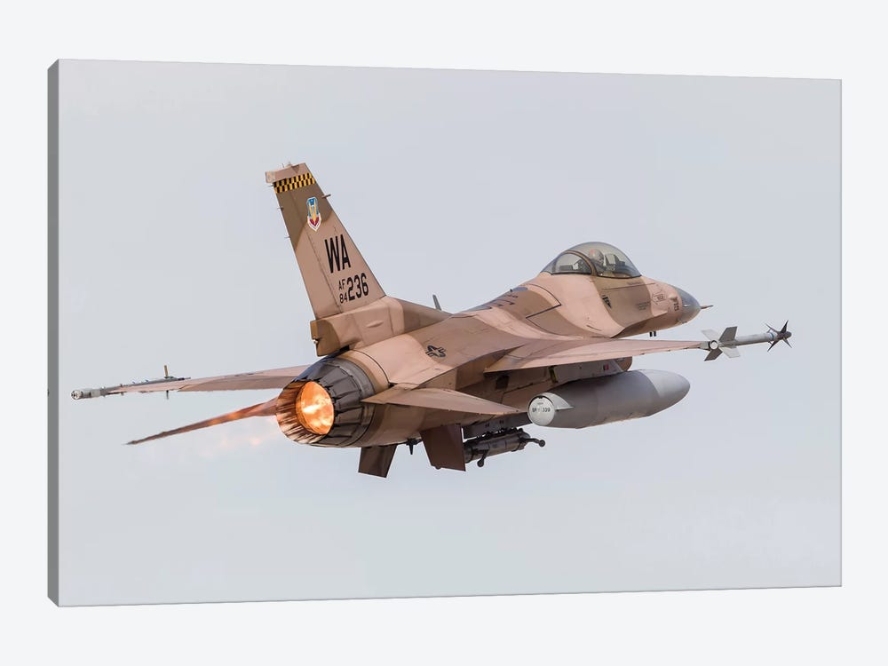 An Aggressor F-16C Fighting Falcon Of The US Air Force by Rob Edgcumbe 1-piece Canvas Artwork