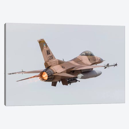 An Aggressor F-16C Fighting Falcon Of The US Air Force Canvas Print #TRK455} by Rob Edgcumbe Art Print