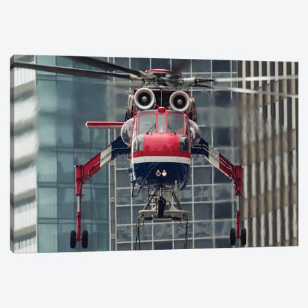 An Erickson Aircrane S-64 Aircrane Heavy-Lift Helicopter Canvas Print #TRK456} by Rob Edgcumbe Canvas Art Print