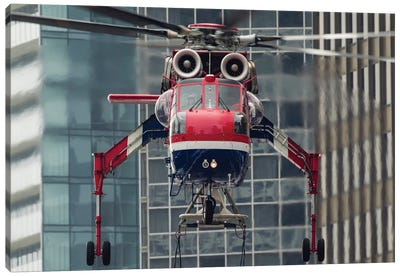 An Erickson Aircrane S-64 Aircrane Heavy-Lift Helicopter Canvas Art Print