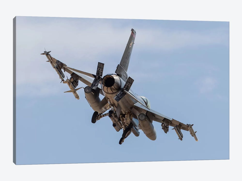 An F-16C Fighting Falcon Of The US Air Force by Rob Edgcumbe 1-piece Canvas Artwork