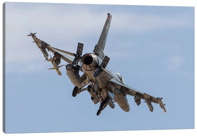 An F-16C Fighting Falcon Of The US Air Force Canvas Art Print