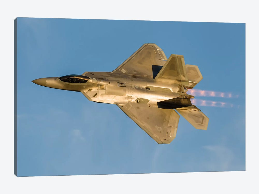 An F-22A Raptor Of The US Air Force Turns At High Speed II by Rob Edgcumbe 1-piece Canvas Artwork