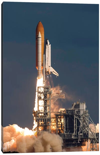 Space Shuttle Atlantis Clears The Tower At The Kennedy Space Center, Florida Canvas Art Print