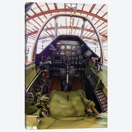 The Cockpit Of A P-51 Mustang Canvas Print #TRK464} by Rob Edgcumbe Canvas Artwork