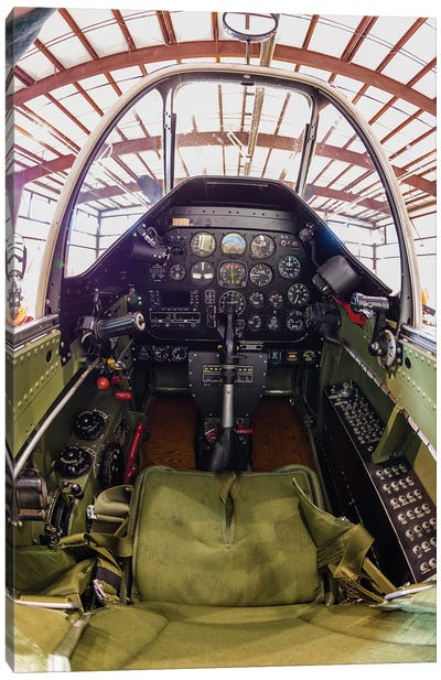 The Cockpit Of A P-51 Mustang Canvas Art Print