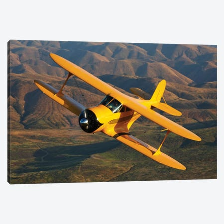 A Beechcraft Model B17R Staggerwing In Flight Canvas Print #TRK466} by Scott Germain Canvas Wall Art