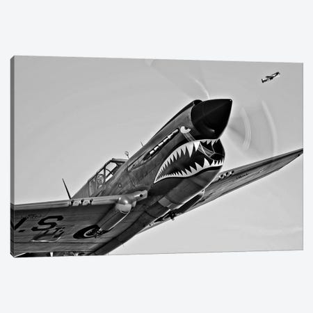 A Curtiss P-40E Warhawk In Flight Near Chino, California I Canvas Print #TRK467} by Scott Germain Canvas Art
