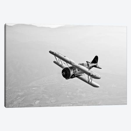 A Grumman F3F Biplane In Flight Canvas Print #TRK470} by Scott Germain Canvas Wall Art