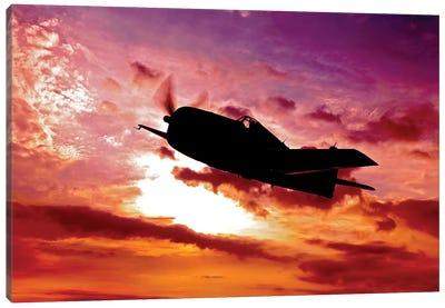 A Grumman F6F Hellcat Fighter Plane In Flight I Canvas Art Print